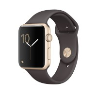 Apple Watch Series 2 - 42 mm - silver aluminium - smart watch with sport band - fluoroelastomer - cocoa - S/M/L size - Wi-Fi, Bluetooth - 34.2 g a