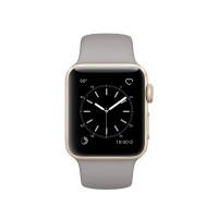 Apple Watch Series 1 - 38 mm - gold aluminium - smart watch with sport band - fluoroelastomer - concrete - S/M/L size - colour - Wi-Fi, Bluetooth - 25 g a