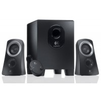 Logitech Z313 2.1 Speaker System 25W total RMS with compact sub woofer and 2 satellites and wired control pod Black a