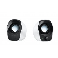 Logitech Stereo Speakers Z120 cube shaped USB powered 1.2W with power and volume controls a
