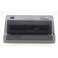 Epson LQ-630 Dot matrix flat-bed printer, 24 pins, 80 column, original + 4 copies, 300 cps HSD (10 cpi), Epson ESC/P2 - IBM PPDS emulation, 14 fonts, 8 Barcode fonts, 2 paper paths, single and continous sheet, paper park, Parallel and USB I/F a