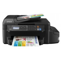 Epson EcoTank ET-4550 - Multifunction printer - colour - ink-jet - A4/Legal (media) - up to 33 ppm (printing) - 150 sheets - 33.6 Kbps - USB, LAN, Wi-Fi(n) a