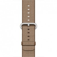 Apple 42mm Woven Nylon Band - Watch strap - caramel, toasted coffee - for Watch (42 mm) a