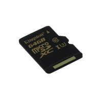 Kingston Technology Gold microSD UHS-I Speed Class 3 (U3) 64GB 64GB MicroSDHC UHS-I Class 3 memory card a