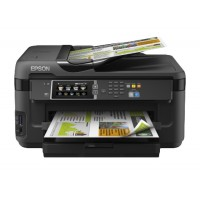 Epson WorkForceWF-7610 multifunction printer - colour  - inkjet - A3 (297 x 420 mm) (media) up to 18 ppm (printing) - 250 sheets - LAN Wi-fi(n) USB Host a