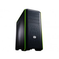 "Cooler Master CM 690 CMS-693-GWN1 III Green Edition Dual USB 3.0 Mid Tower, Full Mesh Front panel and Top"" Black & Green a"