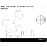 8U HINGED WALLMOUNT OPEN FRAME a