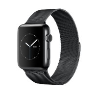 Apple Watch Series 2 - 38 mm - space black stainless steel - smart watch with milanese loop - stainless steel - space black - 130-180 mm - Wi-Fi, Bluetooth - 41.9 g a