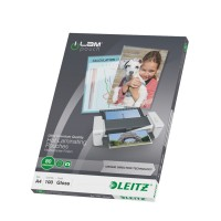 Leitz - 100 - glossy, Crystal Clear - A4 (210 x 297 mm) lamination pouches a