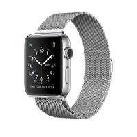 Apple Watch Series 2 - 38 mm - stainless steel - smart watch with milanese loop - stainless steel - silver - 130-180 mm - Wi-Fi, Bluetooth - 41.9 g - silver a