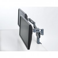 Kensington SmartFit Dual Monitor Arm Mount - Mounting kit (desk clamp mount, 2 monitor arms) for 2 LCD displays - dark grey - desk-mountable a