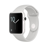 Apple Watch Edition Series 2 - 42 mm - white ceramic - smart watch with sport band - fluoroelastomer - cloud - S/M/L size - Wi-Fi, Bluetooth - 45.6 g a