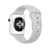 Apple Watch Edition Series 2 - 38 mm - white ceramic - smart watch with sport band - cloud - S/M/L size - Wi-Fi, Bluetooth - 39.6 g a