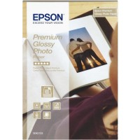 Epson Premium Glossy Photo Paper - Glossy photo paper - 100 x 150 mm - 40 sheet(s) a