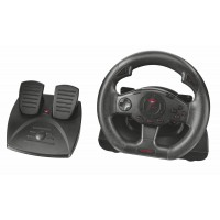 Trust GXT 580 Vibration Feedback Racing Wheel Steering wheel + Pedals PC, Playstation 3 Black a