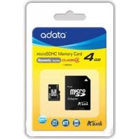 ADATA AUSDH4GCL4-RA1 4GB MicroSDHC Class 4 memory card a