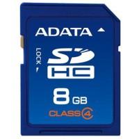ADATA SDHC 8GB Class 4 8GB SDHC memory card a