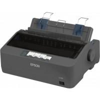 Epson LQ-350 Dot Matrix Printer , 24 pins, 80 column, original + 3 copies, 300 cps HSD (10 cpi), Epson ESC/P2 - IBM 2390+ emulation, 14 fonts, 8 Barcode fonts, 3 paper paths, single and continous sheet, paper park, USB Parallel and Serial I/F b