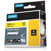 Dymo Rhino Tape Original flexible 24mm Black on Yellow 1734525 a