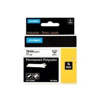 Dymo Rhino Tape Permanent Polyester 24mm Black on white 1734523 a