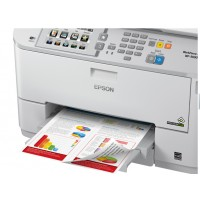 WorkForce Pro WF-5690DWF, Inkjet Printers, Business Inkjet/Multifunction, C4 (Envelope), 4 Ink Cartridges, MCKY, Print, Scan, Copy, Fax, Yes, Direct scan-to-print without PC, Direct print from USB, 4,800 x 1,200 dpi, 34 Pages/min Monochrome (plain paper),