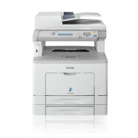 Epson WorkForce AL-MX300DTN print, scan and copy, standard paper capacity of 300 pages, print up to 35ppm with first page out of just 5.5 seconds, high toner cartridge yield of up to 10,000 pages and duplex printing, 1,200 x 1,200 dpi, flatbed scanner typ