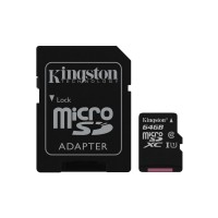 Kingston Technology Canvas Select 64GB MicroSD UHS-I Class 10 memory card a