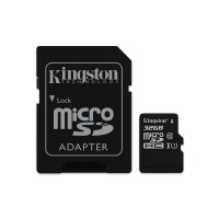 Kingston Canvas Select - Flash memory card (microSDHC to SD adapter included) - 32 GB - UHS Class 1 / Class10 - microSDHC UHS-I a
