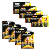 Duracell Plus BUN0021A - Battery 8 x AA type Alkaline - with 4 pack of 8 x AAA alkaline batteries (pack of 4) a