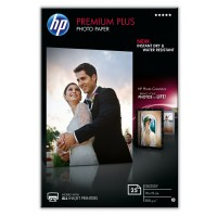 HP Premium Plus Photo Paper - Glossy - 100 x 150 mm - 300 g/m² - 25 sheet(s) photo paper - for Envy 5055, 7645, Officejet 5255, 76XX, PageWide MFP 377, PageWide Pro 452, Photosmart 5525 a