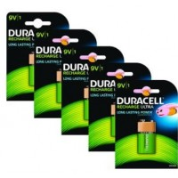 Duracell - Battery 9V NiMH ( rechargeable ) 170 mAh (pack of 5) a