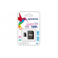 ADATA 128GB microSDXC + adapter 128GB MicroSDXC UHS-I Class 10 memory card a