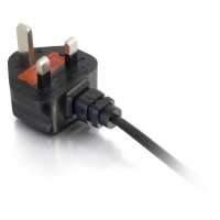 C2G Laptop Power Cable (250 VAC) - BS 1363 (M) - IEC 320 EN 60320 C5 (F) - 2 m - moulded - black - United Kingdom a