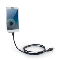 C2G Samsung Galaxy Charge and Sync Cable - Tablet charging / data cable - Micro-USB Type B (M) to USB (M) - 1.83 m - black a