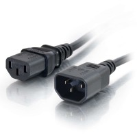 2m 18 AWG Computer Power Extension Cable (IEC 320 C13 to IEC 320 C14) a