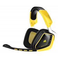 Corsair VOID Wireless Binaural Head-band Black,Yellow headset a