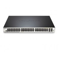 D-Link 48-port 10/100/1000 Layer 2 Stackable Managed PoE Gigabit Switch including 4-port Combo 1000BaseT/SFP with Standard Image a