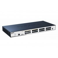 D-Link 24-port SFP Layer 2 Stackable Managed Gigabit Switch including 8-port Combo 1000BaseT/SFP with Standard Image a