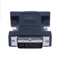 DVI to VGA Adapter for DVD, Laptop, HDTV and Projector (Black)
