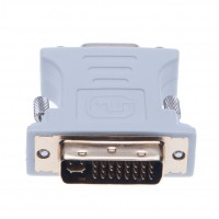 DVI to VGA Adapter for Laptop, HDTV and Projector (White)