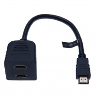 HDMI In Male to 2 Out Female Splitter for HDTV  Projectors Monitors