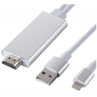 Lightning to HDMI for Connecting iPhone 5, 6 & iPad to TV Monitor