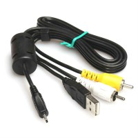 USB 8-pin to AV Audio Video Cable for Cameras