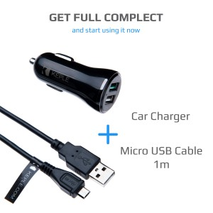 Quick Charge Car Charger with 1m Micro USB Cable for Moto G Turbo Edition / X Force / X Pure Edition / X Style