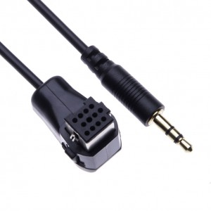 IP-BUS AUX Cable for Pioneer DEH-P9600/ DEH-P960MP/ DEH-P7700/ DEH-P760MP/ DEH-P6800/ DEH-P6700/ DEH-P670MP/ DEH-P660 Auxilary 3.5mm Audio Music Interface Adaptor Converter from Car Stereo Head Unit to Smartphone Mp3 iPhone iPod
