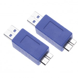 2 Pieces USB 3.0 Male to Micro B Male Adapter for Computers, Laptops, Cameras, Hard Drives