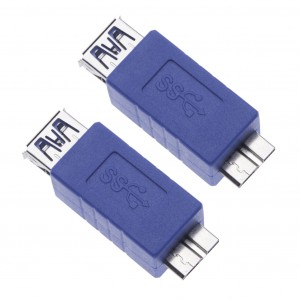 2 Pieces USB 3.0 Female to Micro B Male Adapter for Computers, Laptops, External Hard Drives