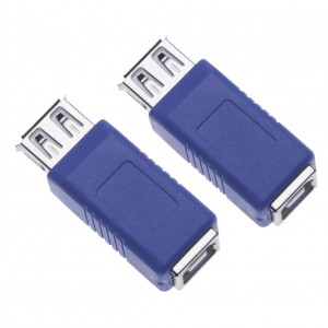 2 Pieces USB 2.0 Female to Type B Female Adapter for Computers, Laptops, Hard Drives