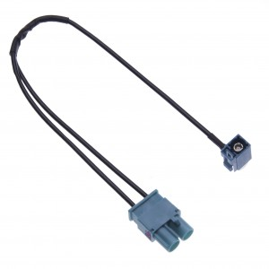 Dual Fakra Car Radio Antenna Adapter for Audi, VW Volkswagen, Skoda, Seat Car Models