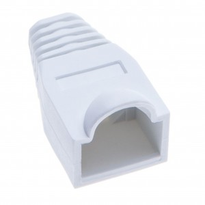 RJ45 Crimp Boot Covers By Keple | Plastic Ethernet Network Wire LAN Strain Connector Ends Caps for Cat6 Cat5 Cable | Pack of 50 PCS White Plug Covers
